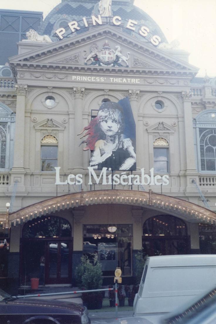 Princess Theatre, Melbourne 1989 & 1998. #theatre #lesmis #theatre www.lesmis.com