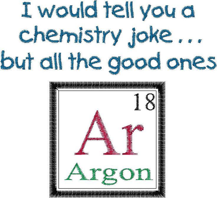 Periodic Table Joke Design ARGON. by MyBabeInTheHood on Etsy