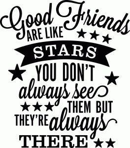 Silhouette Online Store - View Design #56292: Good friends are like stars