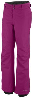 Columbia Bugaboo Pants via @Mary Sue McGinnis Blank Sportswear - looser fit, great for snowboarding or hiking/snowshoeing - elastic bottoms that easily fit over boarding boots #omniten #tryingstuff