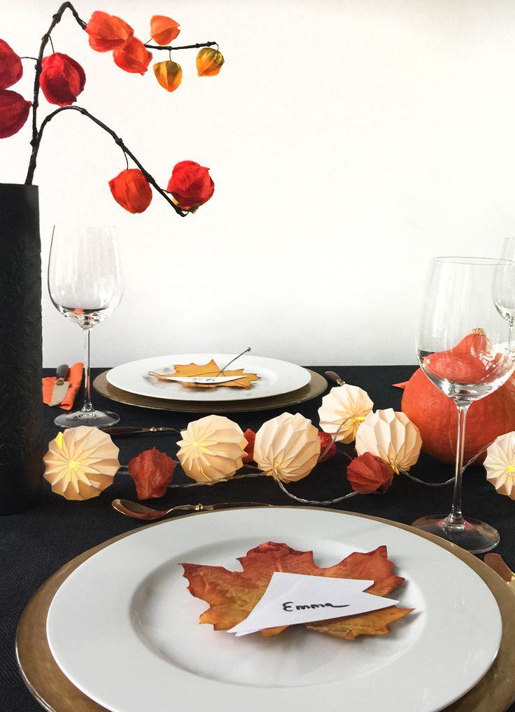 Herbstliche Tischdeko In Schwarz