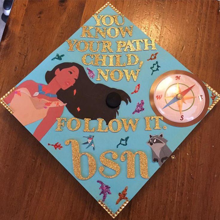 My Disney graduation cap for nursing school! Pocahontas was my favorite Disney…