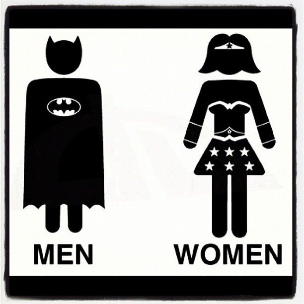 I ve been looking for a bathroom sign Batman and WonderWoman Toilet by   LucaGiorgi on deviantART28 best Male and Female bathroom signs images on Pinterest  . Bathroom Boy Sign. Home Design Ideas