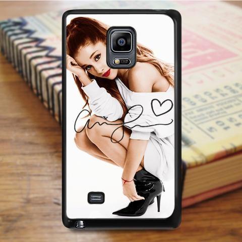 Ariana Grande Red Lips Signature Samsung Galaxy Note 5 Case