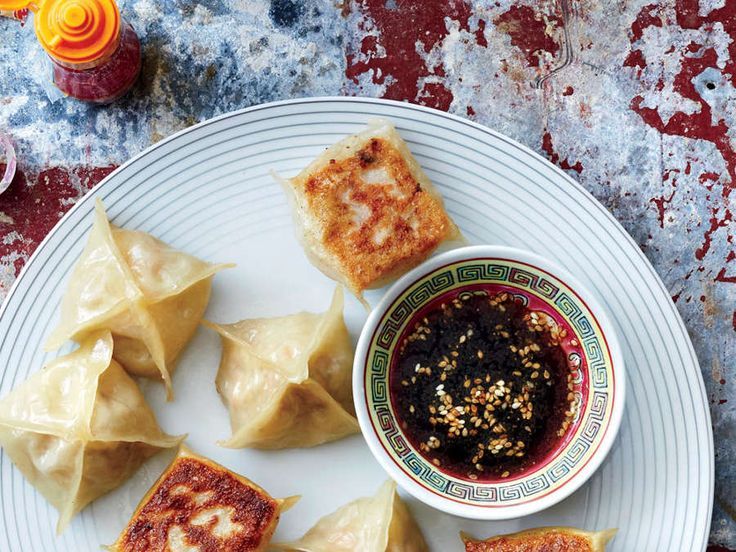 """""""Spring Roll"""" Wontons -The classic filling in Vietnamese spring rolls goes into wonton skins that are browned in a skillet. ."""