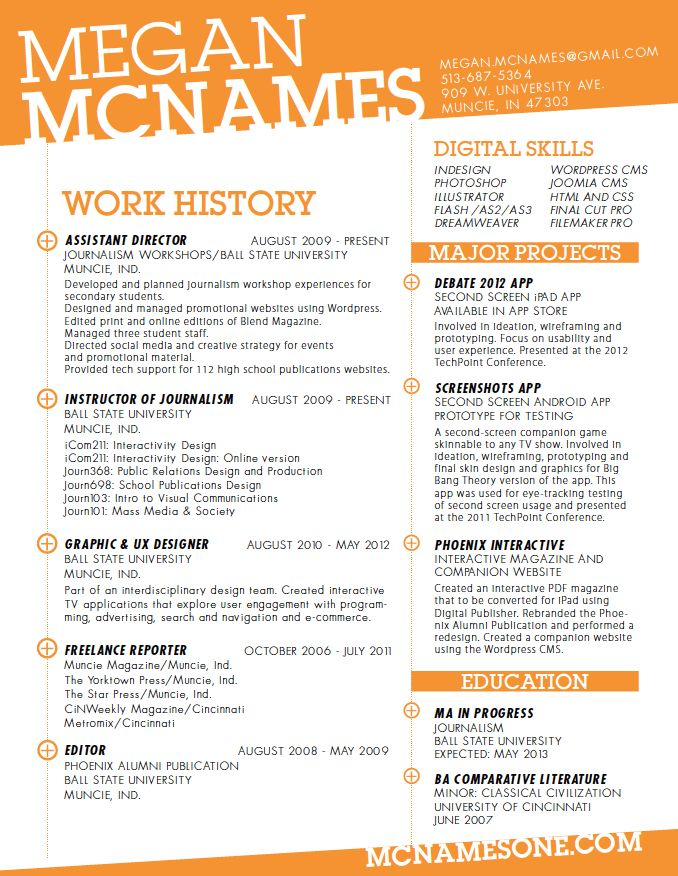 Best Graphic Design Resume Images On   Graphic Design