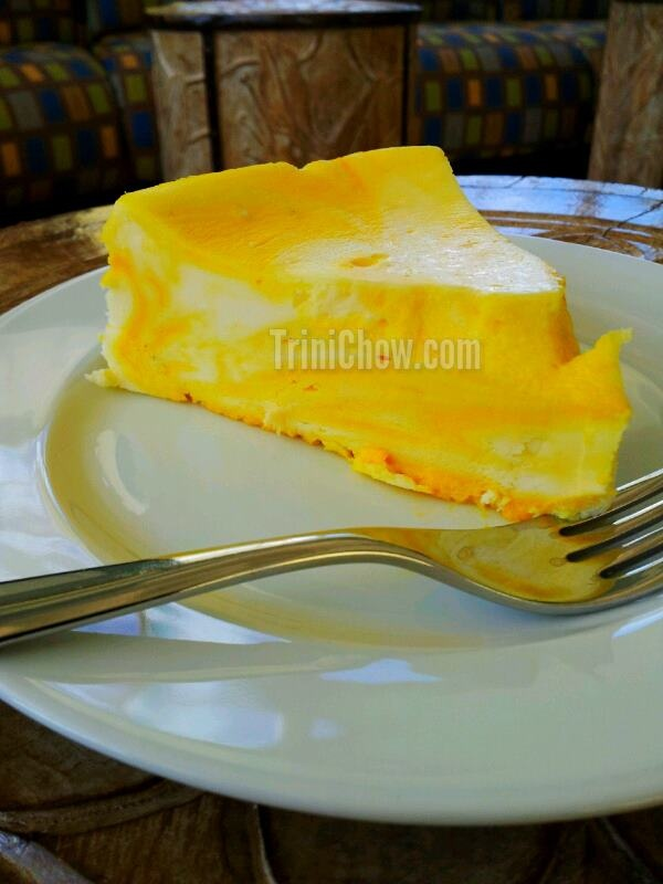 Mango Cheesecake at Magdalena Grand Beach Resort's Benne Cafe (Tobago)  http://trinichow.com/2012/07/23/benne-cafe-magdalena-grand-resort-tobago