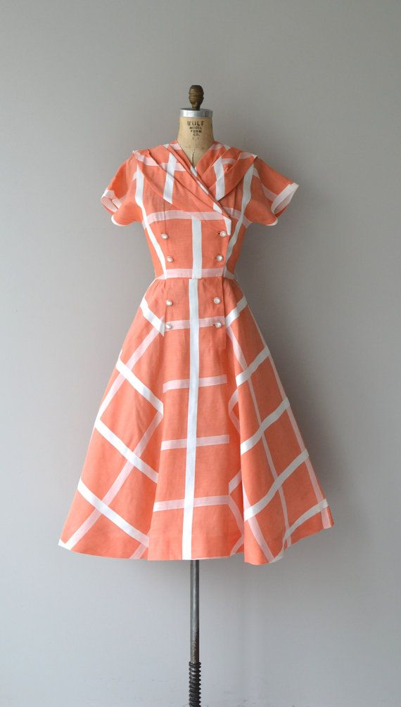 Summer Holiday dress vintage 1950s dress cotton by DearGolden