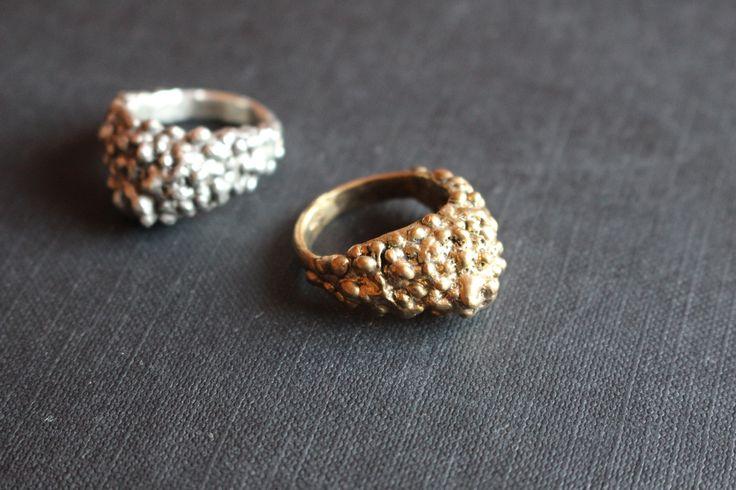 stříbro, zlacené stříbro, moon prsteny