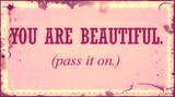 Yeah pass it on!