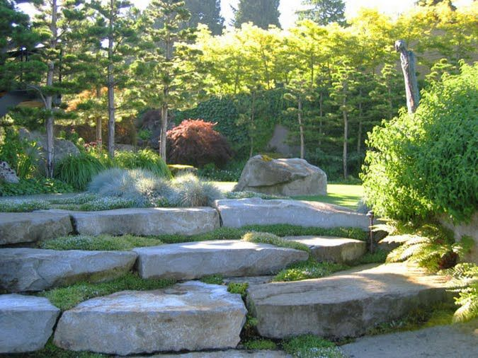 Fresh Garden Design with Stones