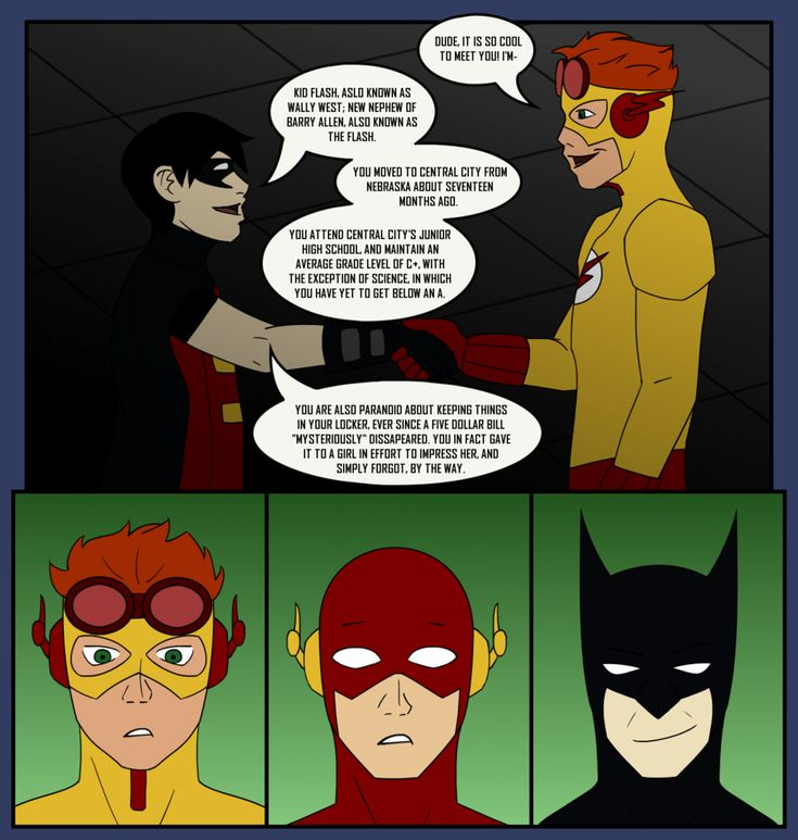 Young Justice - Introductions by ~lmbrake on deviantART (This is totally how this would go down. haha, Batman is proud)