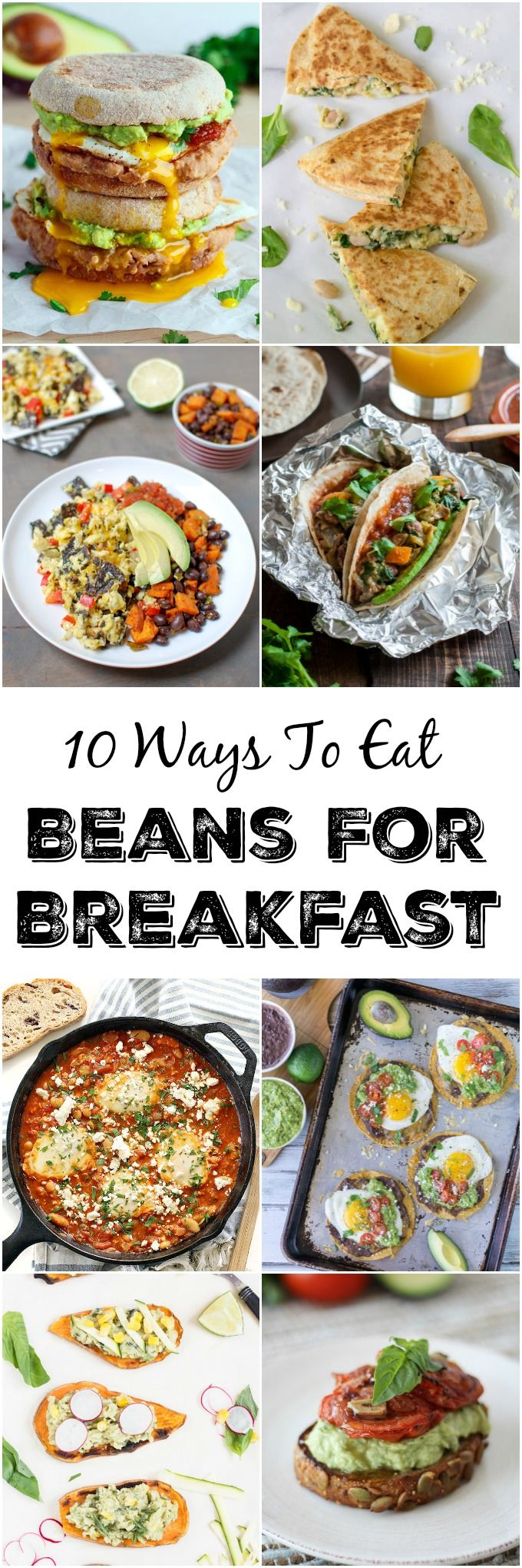 10 Ways to Eat Beans For Breakfast - Start your day with these easy recipes that are full of protein and fiber! (AD)