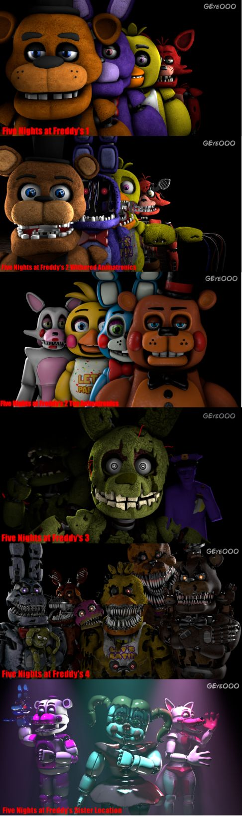 Five Nights at Freddy's Series by GoldenEye000