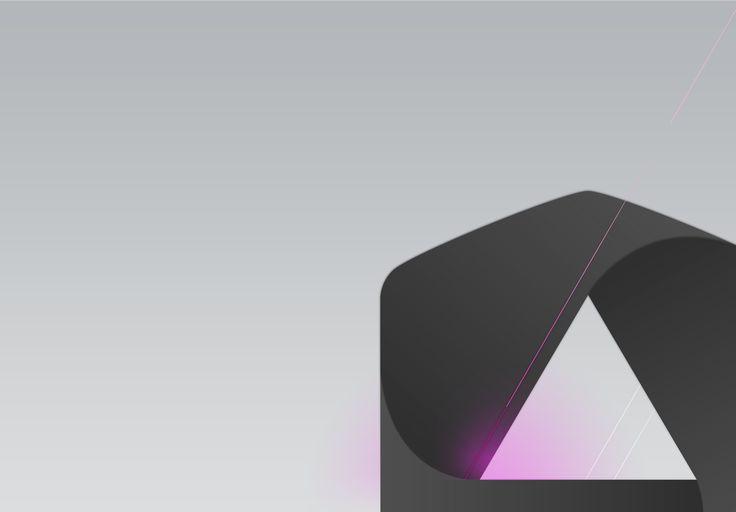 wallpaper | appcom marketing | corporate identity | branding | gray & pink | CI