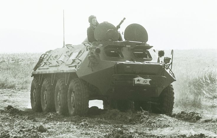 BTR-60 armoured personnel carrier of the soviet Naval Infantry.