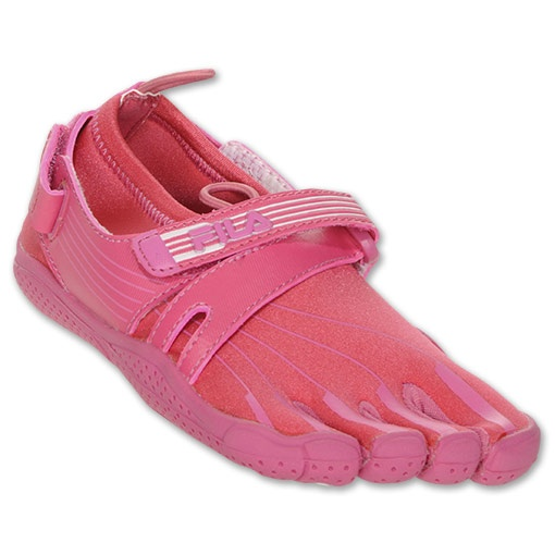 Fila Skele-Toes Kids' Running Shoes| FinishLine.com | Cherry Bomb/Candy Pink