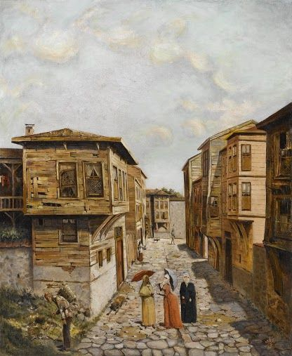 Eski istanbul tabloları | Güzel sözler Farklı Sözler