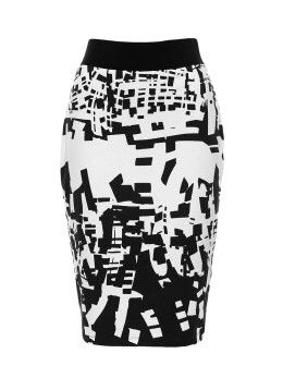 Oscar Tube Skirt in black & white