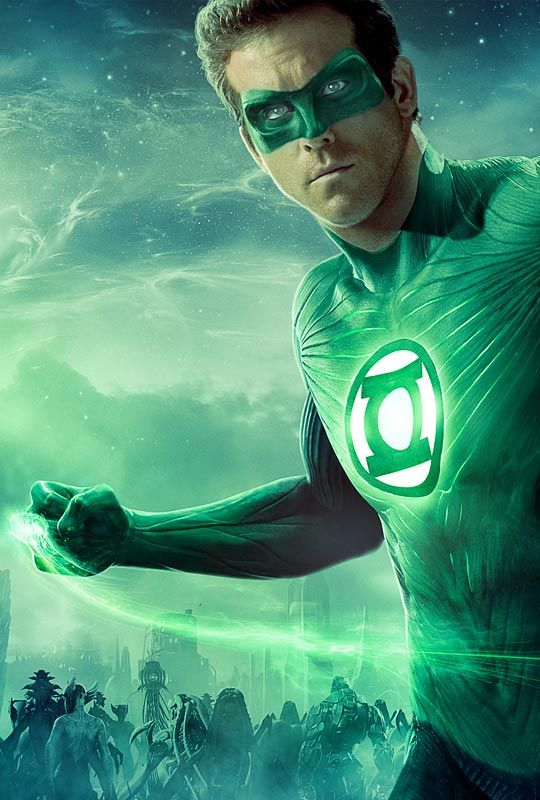 Ryan Reynolds as The Green Lantern (Don't care what you think. I like it!)