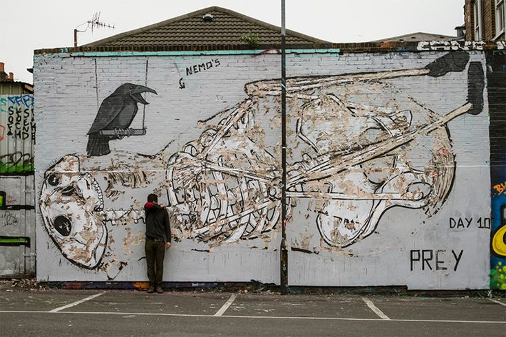 Strangers Are Invited To Rip These Clever Murals To Shreds