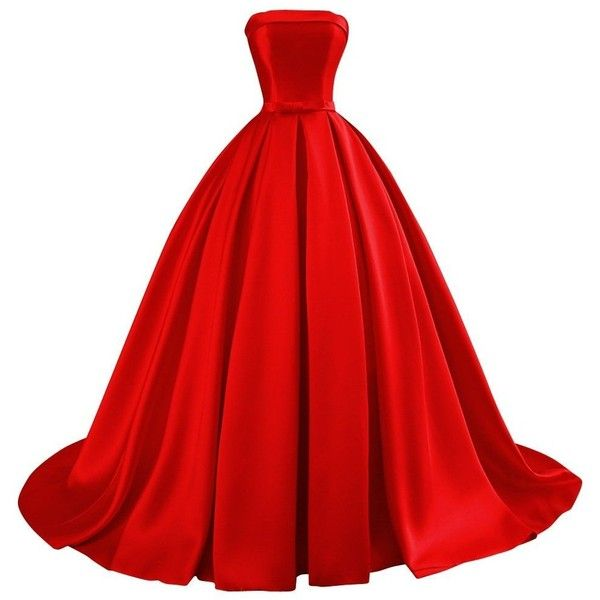 Bess Bridal Women's Ball Gowns Lace Up Long Formal Prom Evening Dress... ($100) ❤ liked on Polyvore featuring dresses, gowns, formal gowns, prom gowns, long evening dresses, red homecoming dresses and red gown