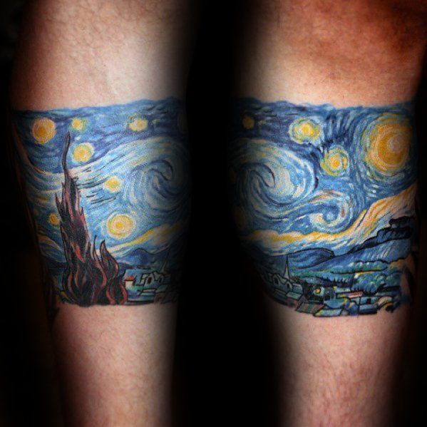 40 Sternennacht Tattoo-Designs für Männer - Malerei-Tinte