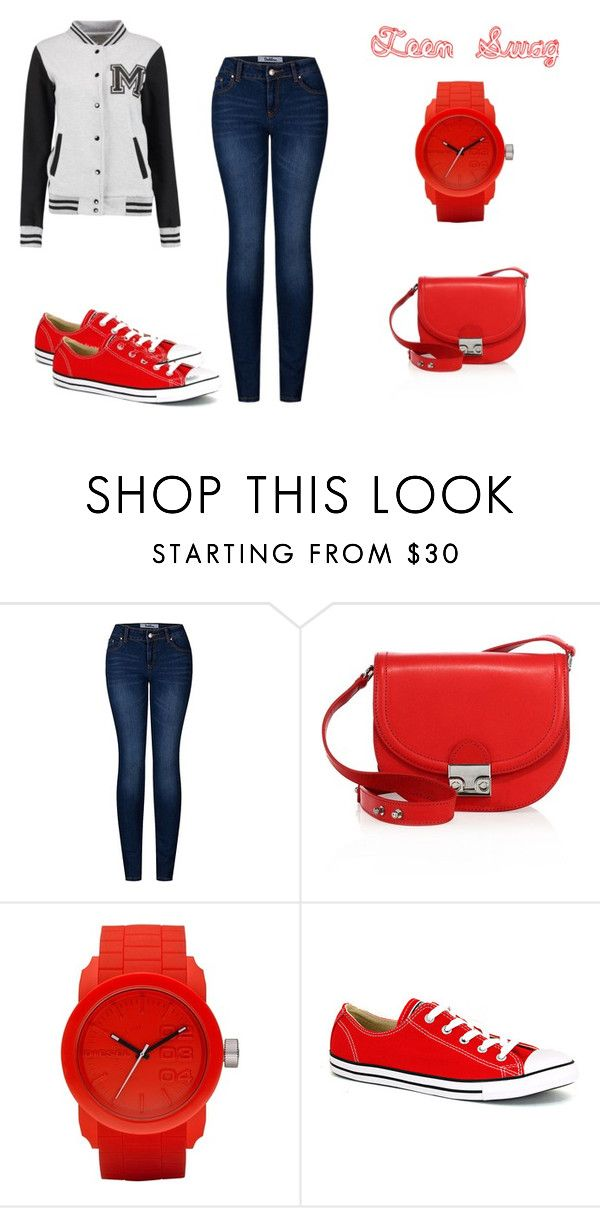"""""""Teen Swag"""" by mriver05 on Polyvore featuring 2LUV, Loeffler Randall, Diesel and Converse"""