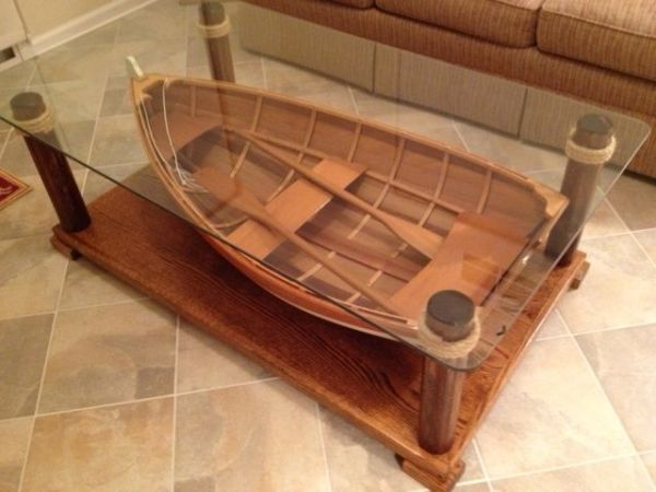 Boat Table Nautical Beach Decor Beach Decor Pinterest