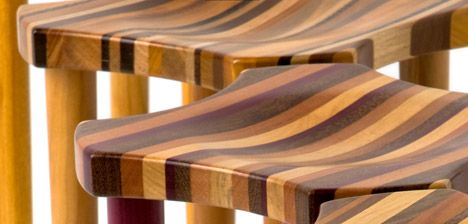Recycled wood= pretty furniture