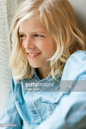 Boy With Long Blonde Hair