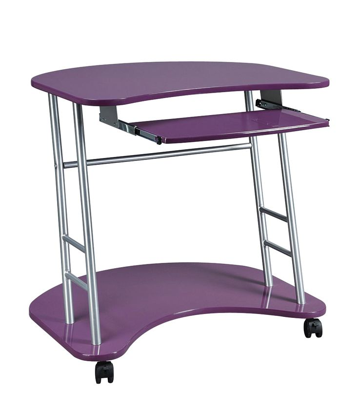 Computer Desk In Plum Purple Computer Desk Functional Design For The  Computer Buff Or Gamer Hi