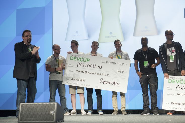 EC3 - #EC2013: Devcup Gold winners, Postach.io, onstage accepting their award