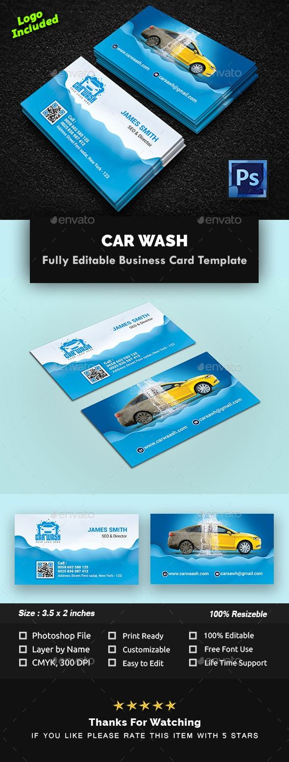 Car Wash Business Card Car Wash Business Car Wash Business Icon