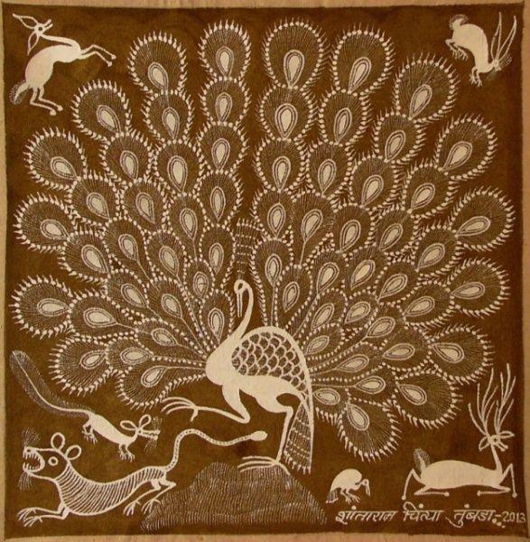 l'art des Warli, Aborigènes de l'Inde