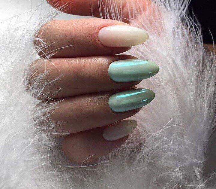 Nail Art #4430 | Two color nails, Best nail art designs