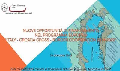 Chieti il 10 dicembre convegno alla Camera di Commercio