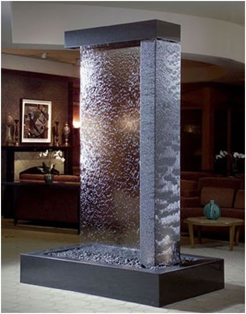 Stunning standalone water wall as a center piece   SPA