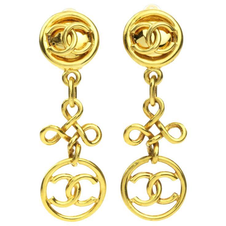 Chandelier Logo Earrings | Chanel | Catchys