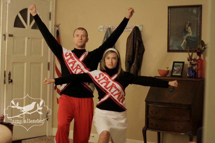 Spartan Cheerleaders from SNL halloween costume couples DIY
