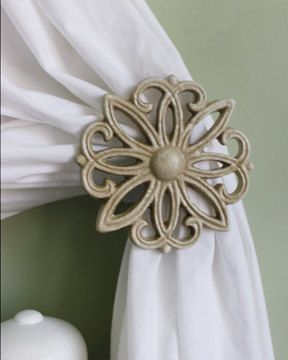Hey, I found this really awesome Etsy listing at http://www.etsy.com/listing/130558096/metal-curtain-tie-back-set-tiebacks
