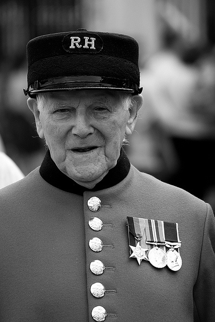The Chelsea Pensioner at the Royal Hospital Chelsea, London #bw @blackwhitepins