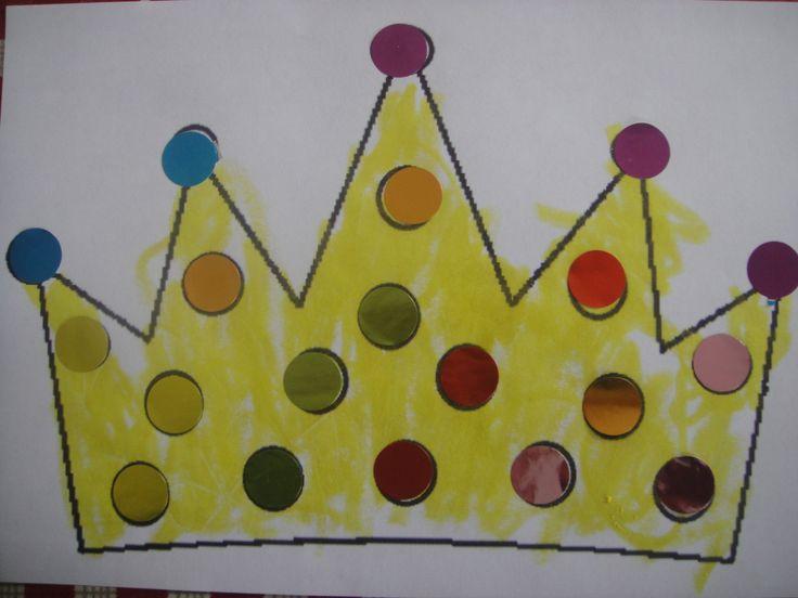 couronne des rois gommettes