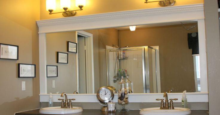 How to frame a bathroom mirror how to nest for less - Mais De 1000 Ideias Sobre Frame Bathroom Mirrors No