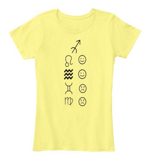 Sagittarius Love Tees Light Lemon Yellow T-Shirt Front