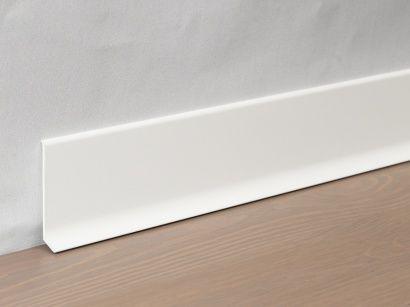 Hliníková podlahová lišta 90/6 SF Bílá lakovaná matná 60 mm