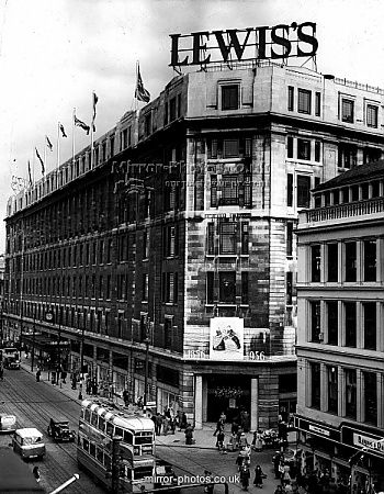 Lewis's of Argyle Street, Glasgow-where I went to see Santa in the 40s