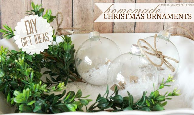 Handmade Christmas Ornaments {DIY Gift Idea}