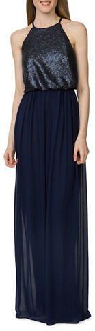 Donna Morgan Hannah Sequined Blouson Dress sale $99