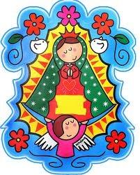 Virgencita plis icon with birds